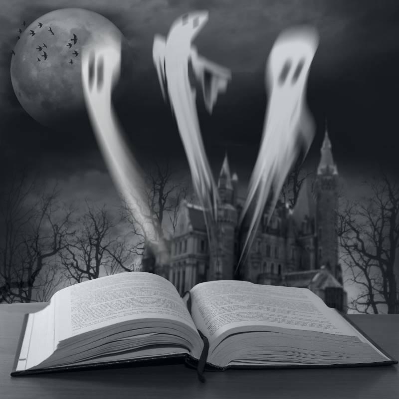 Halloween ghost story book
