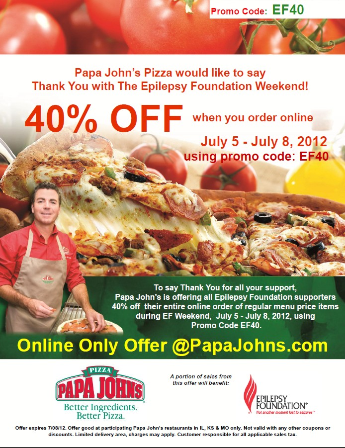 Use this Papa John's promo code to get 40% off any regular-price order at select locations. Plus, 10% of the sale gets donated to Make-A-Wish Foundation of Kansas. Get coupon code.