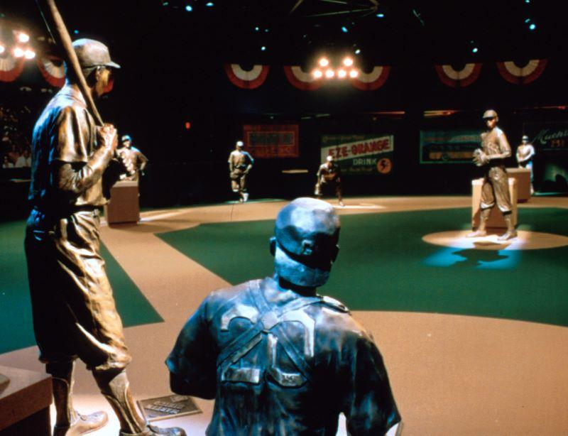 Museums in Kansas City - Negro Leagues Baseball Museum display