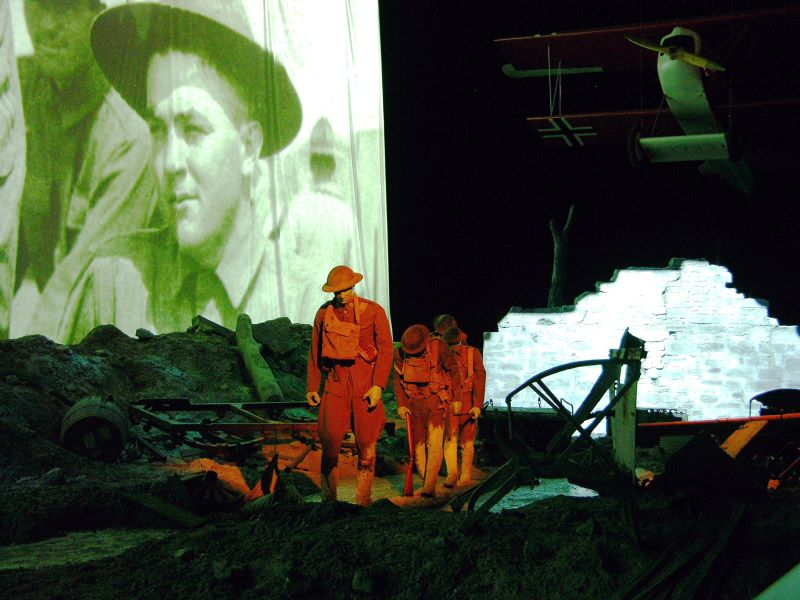 Museums in Kansas City - military history display at World War I Museum and Memorial
