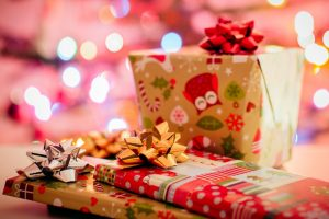 St. Thomas More holiday market - wrapped Christmas gifts