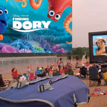 Sand Cinema at Longview Lake Beach