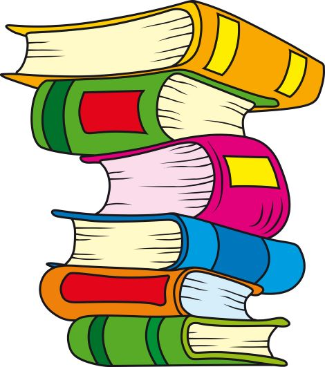 stack of reading books
