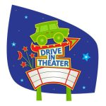 drive in movie graphic