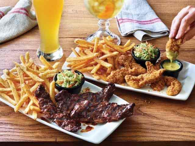 Applebee's riblets, chicken and shrimp