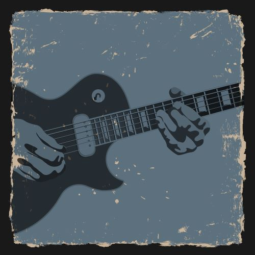 Carl Butler Gospel Lounge - hands strumming chords on a blues guitar