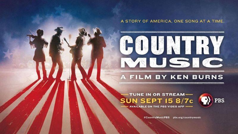 Free screenings of Ken Burns Country Music film - promotional poster