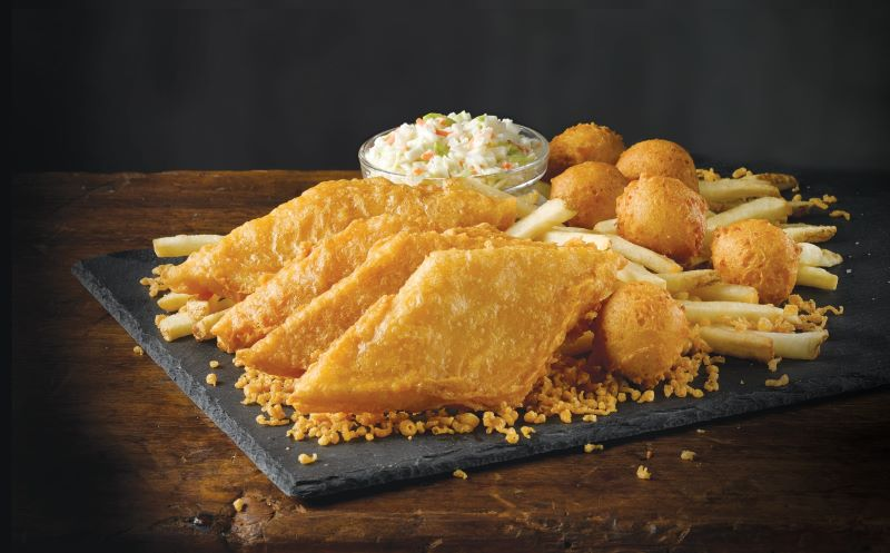 All you can eat Long John Silver's fish and chips
