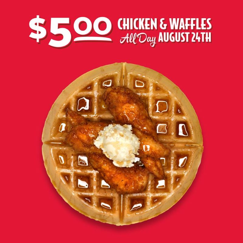 National Waffle Day in Kansas City - Slim chickens $5 offer