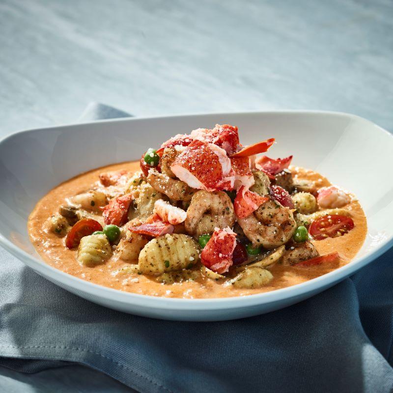 Kansas city restaurant deals - plate of lobster gnocchi at Bonefish Grill