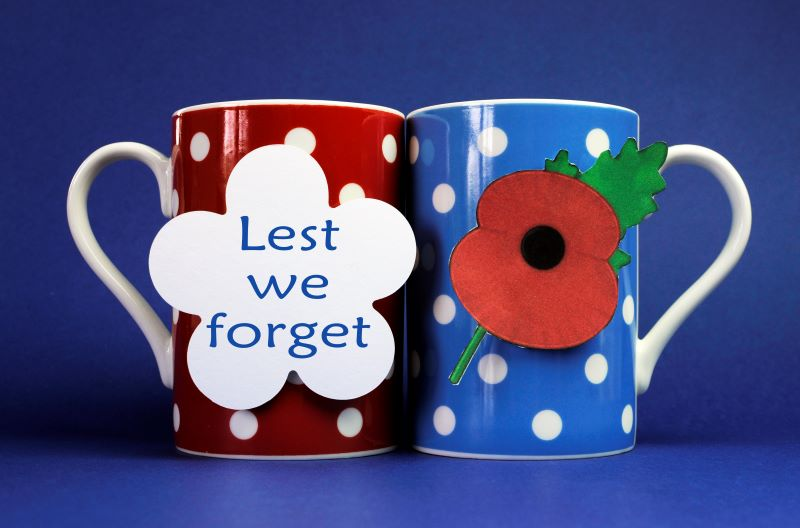 Veterans Day Events in Kansas City - lest we forget mugs