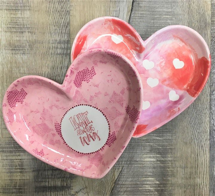 Valentine's Day Fun in Kansas City - ceramic heart dishes