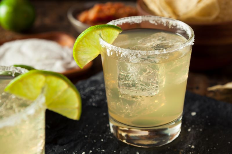 Kansas City National Margarita Day Deals - margarita in a glass with lime