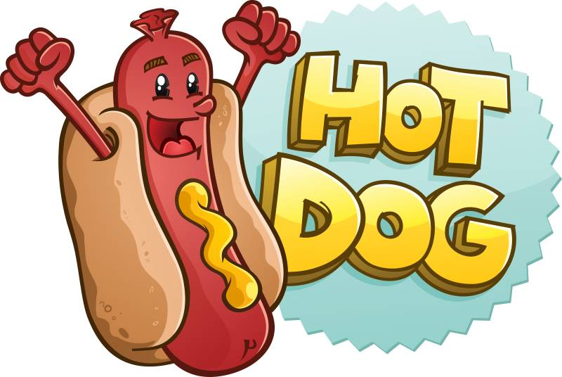 Kansas City Royals Buck Nights - cartoon hot dog cheering