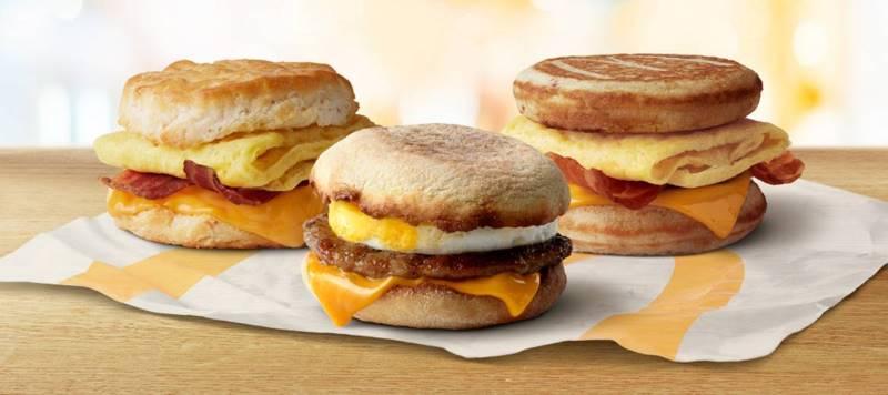 Kansas City restaurant deals - Mcdonald's breakfast sandwiches
