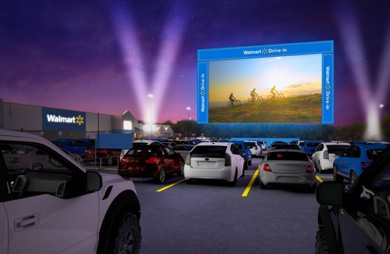Walmart drive-in movies in Kansas City