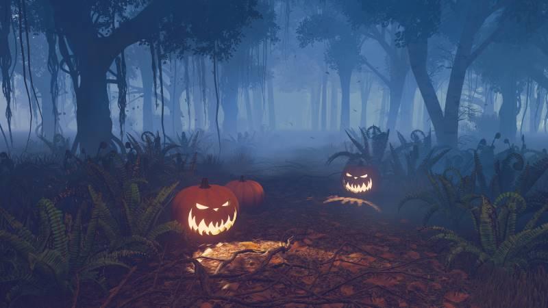 Kansas City Halloween - haunted forest pumpkins