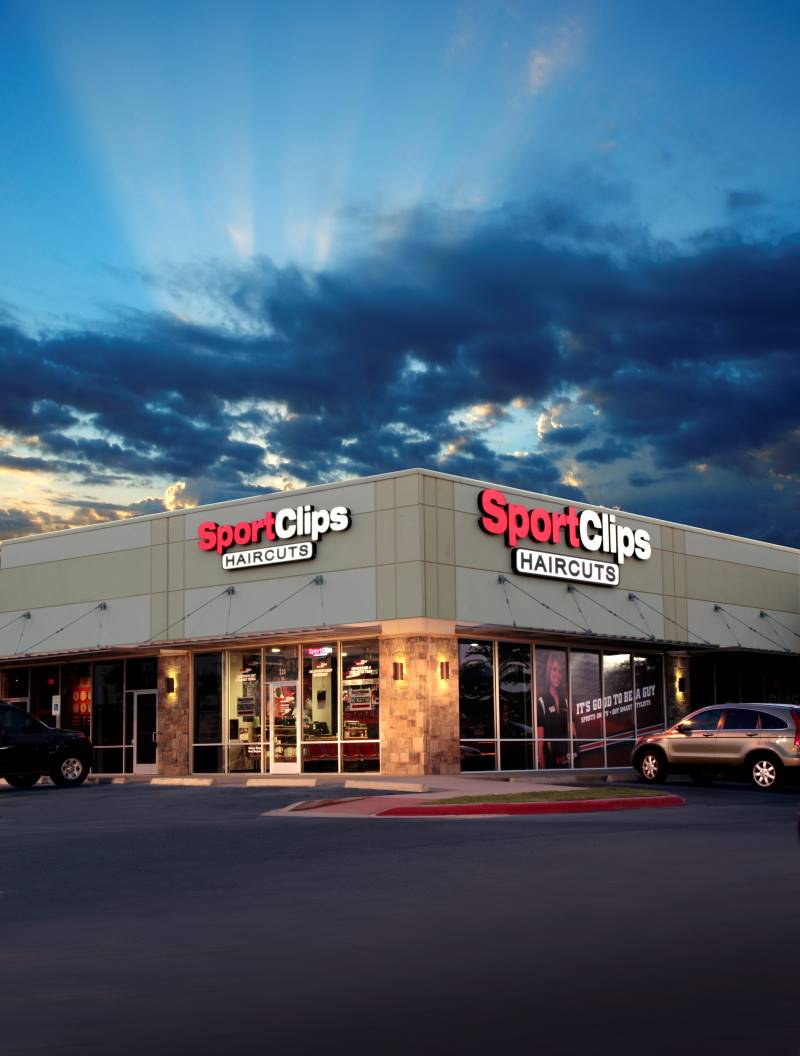 Free haircut at Sports Clips - storefront