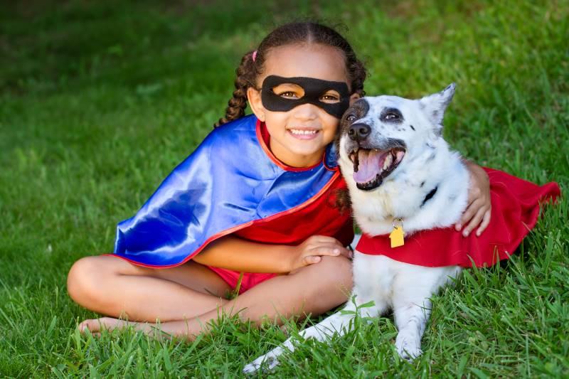 Dog in Halloween costume in Kansas City