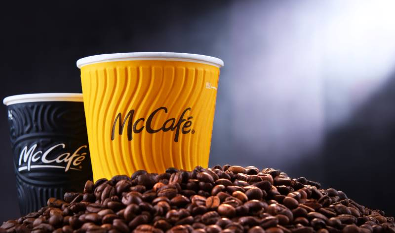 McDonald's coffee and coffee beans