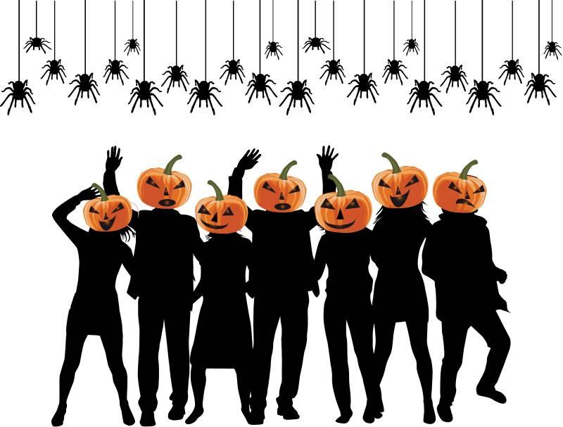Dancing Jack-o-lanterns
