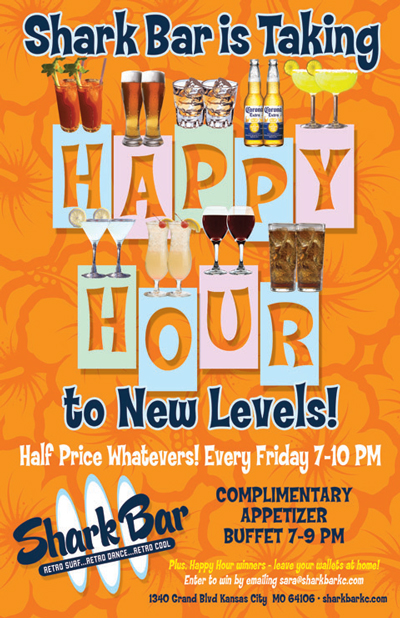 Half price drinks during happy hour 7 00 to 10 00 p m on fridays