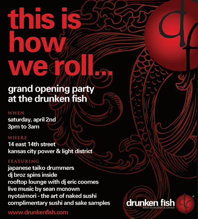 free admission to drunken fish 39 s grand opening party