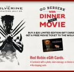 "Free ""Wolverine"" Ticket with Gift Card Purchase"