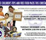 Free Food and Free Kids' Toys for Families in Need